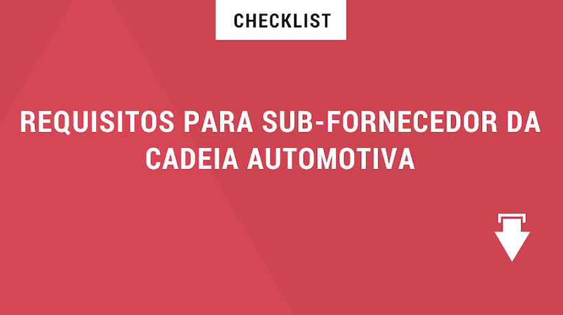 checklist_Requisitos Fornecedor Montadora_Download